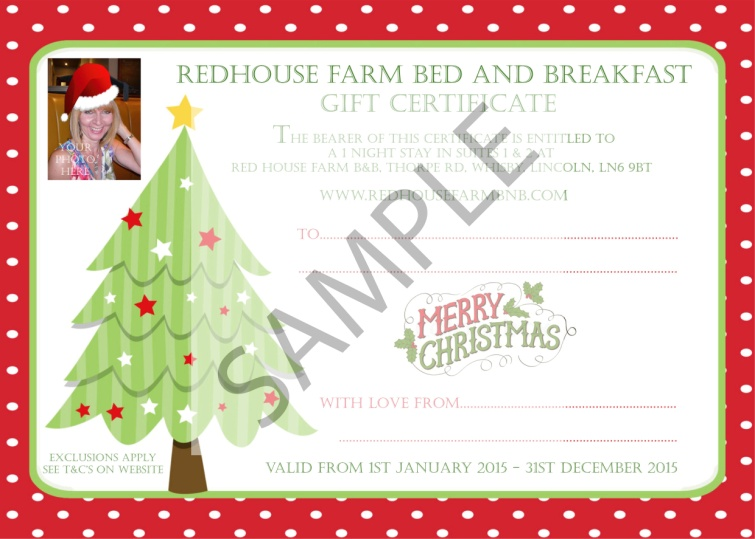 Gift Vouchers – Sample Vouchers